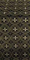 St. George Cross metallic brocade (black/gold)