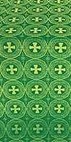 St. George Cross metallic brocade (green/gold)