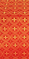 St. George Cross metallic brocade (red/gold)