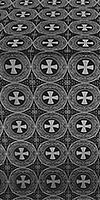 St. George Cross metallic brocade (black/silver)