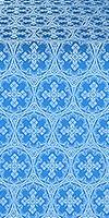 Paschal Cross metallic brocade (blue/silver)