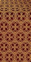 Paschal Cross metallic brocade (claret/gold)