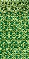 Paschal Cross metallic brocade (green/gold)
