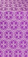 Paschal Cross metallic brocade (violet/silver)