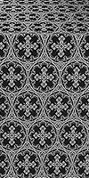 Paschal Cross metallic brocade (black/silver)