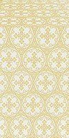 Paschal Cross metallic brocade (white/gold)
