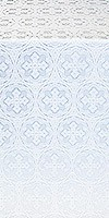 Paschal Cross silk (rayon brocade) (white/silver)