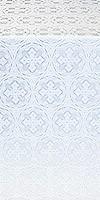 Paschal Cross metallic brocade (white/silver)