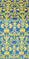 Peacocks metallic brocade (blue/gold)