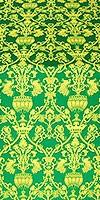 Peacocks metallic brocade (green/gold)