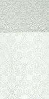 Peacocks silk (rayon brocade) (white/silver)