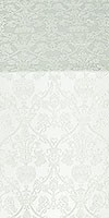 Peacocks metallic brocade (white/silver)