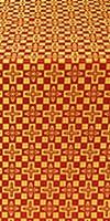 Verona silk (rayon brocade) (red/gold)