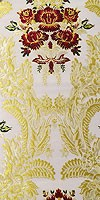 Justinian Bouquet Greek metallic brocade (white/gold with claret)