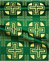 Yanina metallic brocade (green/gold)