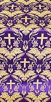 Greek Vine metallic brocade (violet/gold)