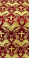 Greek Vine metallic brocade (red/gold)