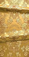 Festal Bouquet metallic brocade (white/gold)