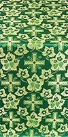 Malina Cross metallic brocade (green/gold)
