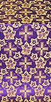 Malina Cross metallic brocade (violet/gold)