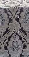 Vase metallic brocade (black/silver)