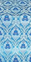 Vase metallic brocade (blue/silver)