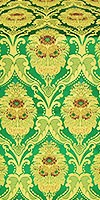 Vase metallic brocade (green/gold)
