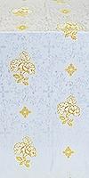 Greek Rose metallic brocade (white/gold)