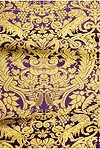 Damask metallic brocade (violet/gold)