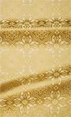 Rhodes metallic brocade (white/gold)
