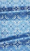 Rhodes metallic brocade (blue/silver)
