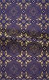 Rhodes metallic brocade (violet/gold)
