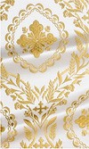 Patras metallic brocade (white/gold)