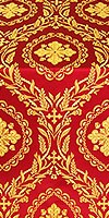 Patras metallic brocade (red/gold)