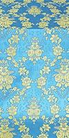 Czar's Bouquet metallic brocade (blue/gold)