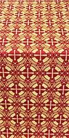 Big Cross metallic brocade (red/gold)