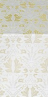 Repida metallic brocade (white/silver)