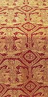 Trinity metallic brocade (red/gold)