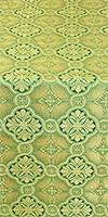 Miletus metallic brocade (green/gold)