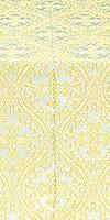 Pharos metallic brocade (white/gold)