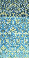 Macedonian metallic brocade (blue/gold)