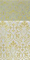 Macedonian metallic brocade (white/gold)