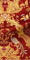 Constantinople metallic brocade (red/gold)