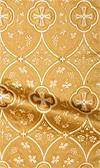 Irakli metallic brocade (white/gold)