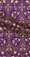 Irakli metallic brocade (violet/gold)