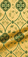 Irakli metallic brocade (green/gold)