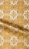 Colchis metallic brocade (white/gold)