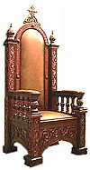 Church furniture: Bishop's throne - 10