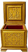 Church furniture: Carved reliquary - 3