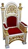 Church furniture: Bishop's throne - 5